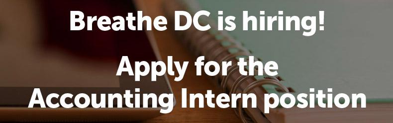 Breathe DC is hiring an accounting intern